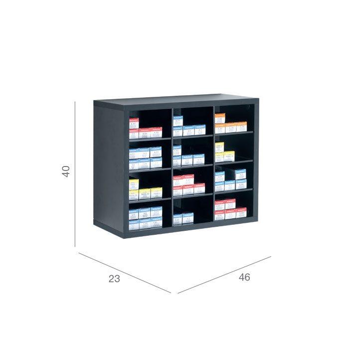 black colour storage shelf
