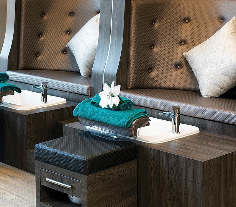 brown pedicure spa chair